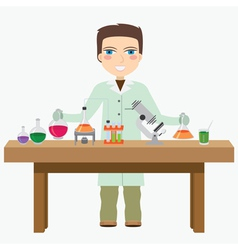 Chemist in the labotatory vector image