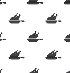 chicken grill seamless pattern vector image
