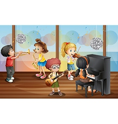 Children and music vector