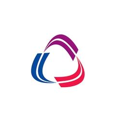 Circle swirl rotation abstract technology logo vector