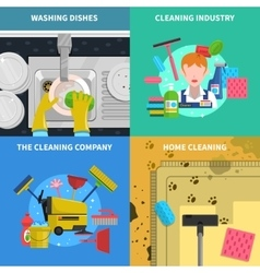 Cleaning Concept Icons Set vector image vector image