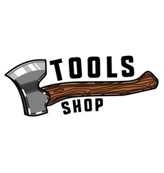 Color vintage tools shop emblem vector