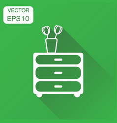 Cupboard furniture icon business concept vector