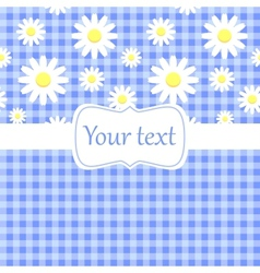 Cute blue card invitation with chamomile vector image vector image
