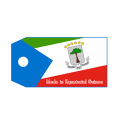 Equatorial guinea flag on price tag with word vector
