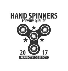 hand spinner logo emblems and icon fidget vector image vector image