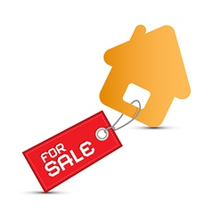 House For Sale Paper Icon Isolated on White vector image