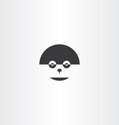 Humanoid robot face icon logo vector