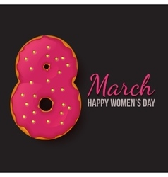 International womens day march 8 doughnut eight vector