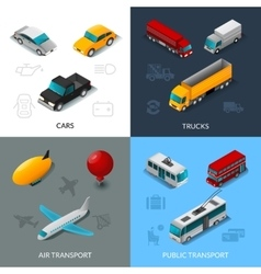 Isometric transport set vector