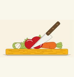 Kitchen design in retro style vector