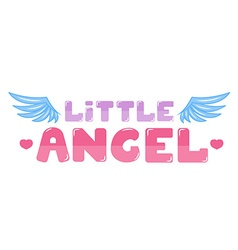 Little angel lettering vector image vector image