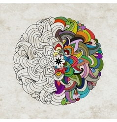 Mandala on grunge paper for your design vector image vector image