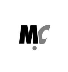 mc m c black white grey alphabet letter logo icon vector image vector image