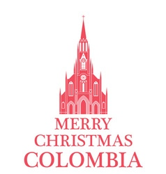 Merry christmas colombia vector