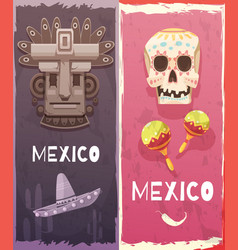 Mexico vertical banners vector