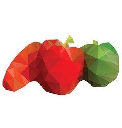 Polygonal Vegetables vector image vector image