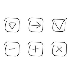 Set icon vector image vector image