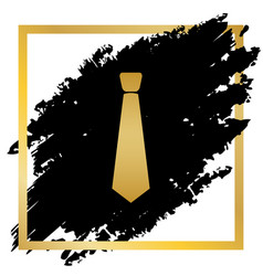 tie sign golden icon at vector image