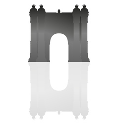 triumphal arch in barcelona vector image