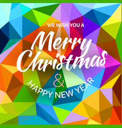 We wish you a merry christmas and happy new year vector