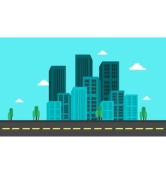 Flat backgrounds city town of vector