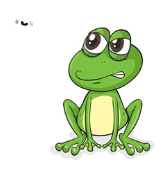 Happy frog fly vector