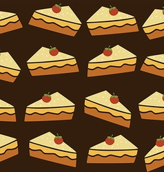 cherry top tart cake vector image