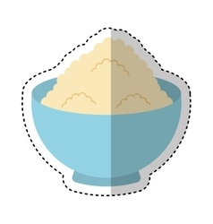 Flour ingredient isolated icon vector