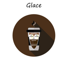 Cup of coffee glace vector
