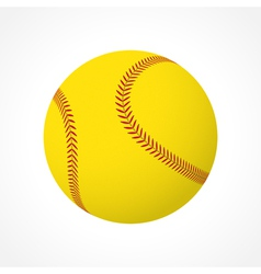 Softball ball vector