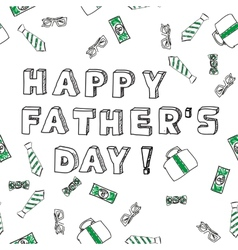 Fathers day card Happy fathers day vector image