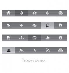 web navigation bars vector image