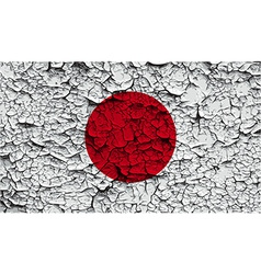 Flag of japan with old texture vector