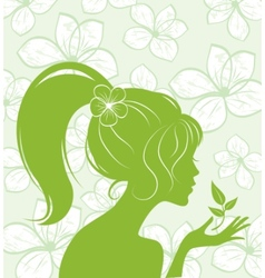 eco flower girl vector image