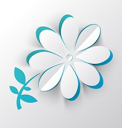 Paper cut flower vector