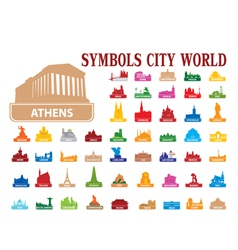Symbols city world vector