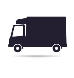 Refrigerator truck icon vector