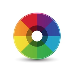 Abstract rainbow circle icon vector