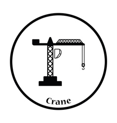 Icon of crane vector
