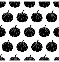 Black and white halloween pattern vector
