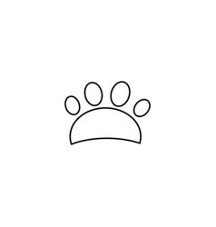 dog trail linear icon thin line design vector image
