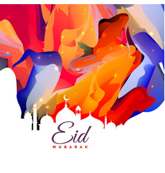 Eid mubarak creative abstract background design vector