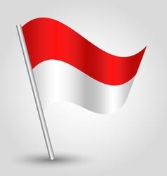 flag monaco vector image