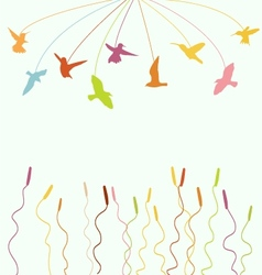 flying birds vector image