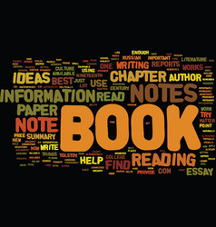 From book notes to book reports text background vector
