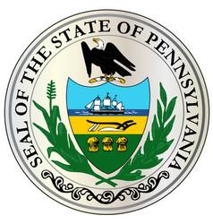 great seal of pennsylvania vector image vector image