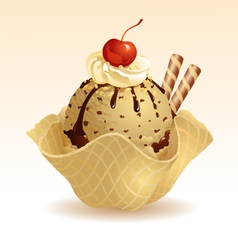 Ice cream Coffee vector image