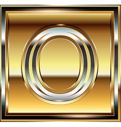 Ingot Font Letter O vector image