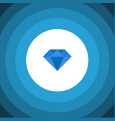 Isolated gemstone flat icon carat element vector